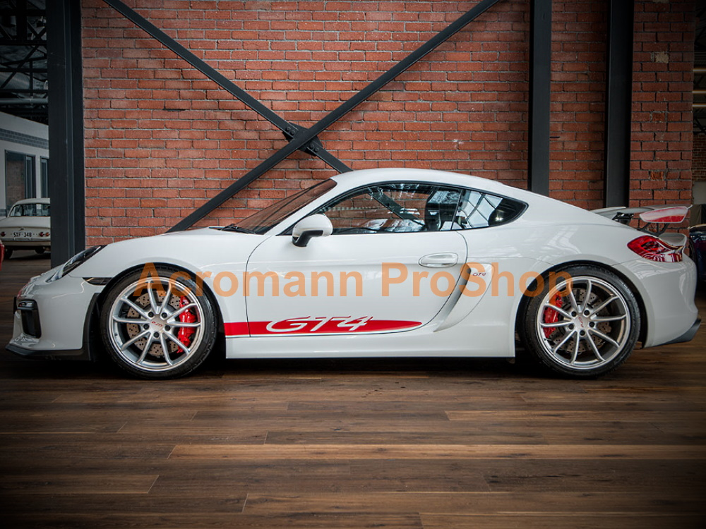 Porsche 981 718 Cayman GT4 Side Stripes Door Decals (Style#3)
