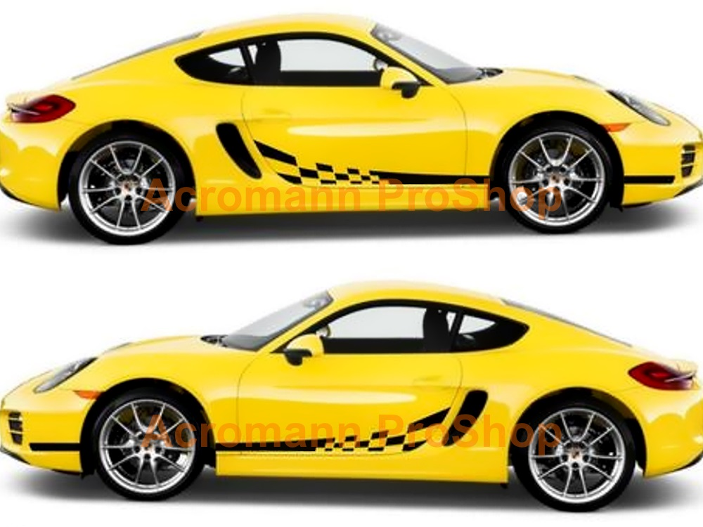 Porsche 981 Cayman Boxster Side Door Decal (Style#1) x 1 pair