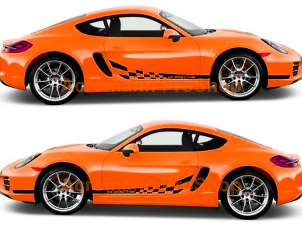 Porsche 981 Cayman Boxster Side Door Decal (Style#2) x 1 pair