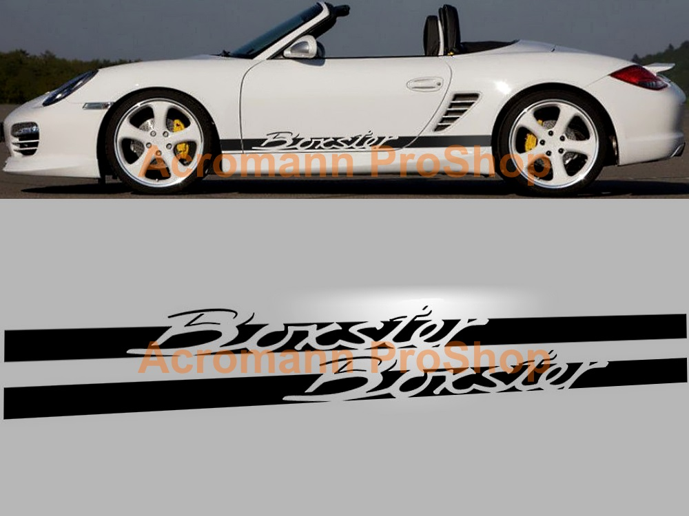 Porsche Boxster Side Door Decal (Style#2) x 1 pair (LHS & RHS)