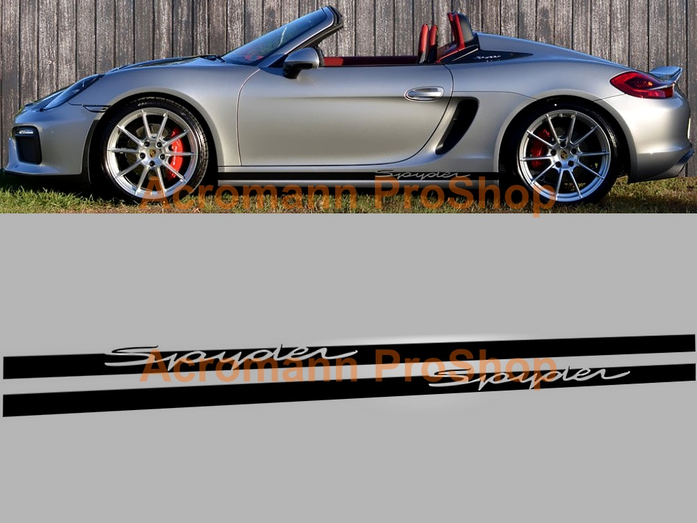 Porsche Boxster Spyder Side Door Decal x 1 pair (LHS & RHS)