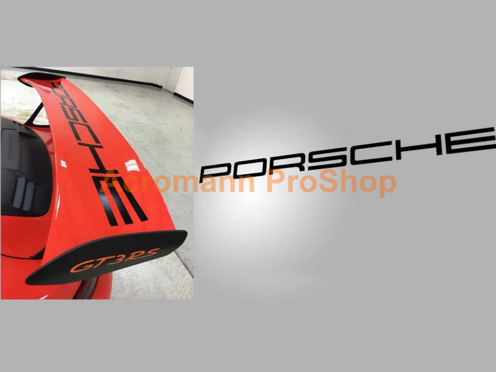 Porsche 991 GT3 RS Rear Wing Decal - Straight