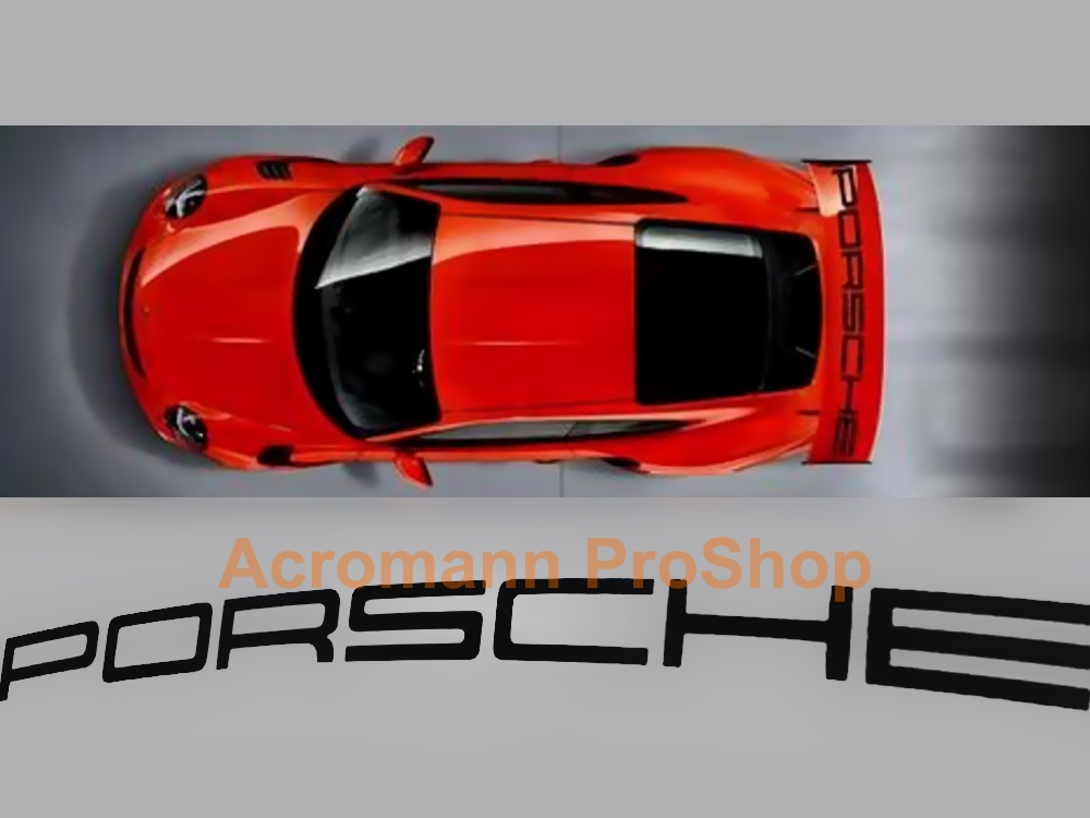 Porsche 991 GT3 RS Rear Wing Decal - Curved