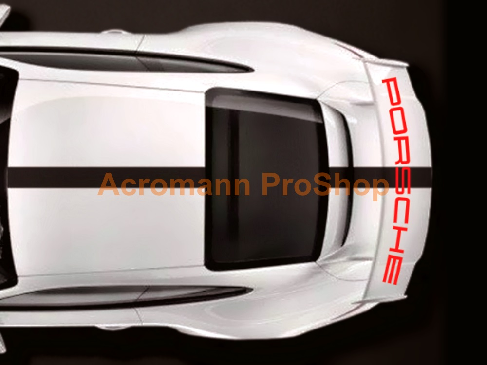 Porsche 991 GT3 Rear Wing Decal - Curved