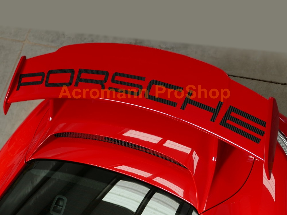 Porsche 991.1.2 GT3 Rear Wing Spoiler Decal Sticker (#2) -Curved
