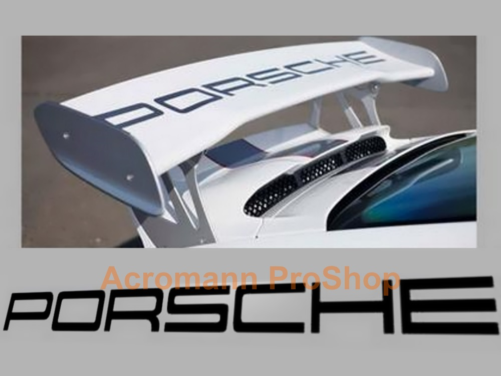 Porsche 997 GT3 RS Rear Wing Decal - Straight