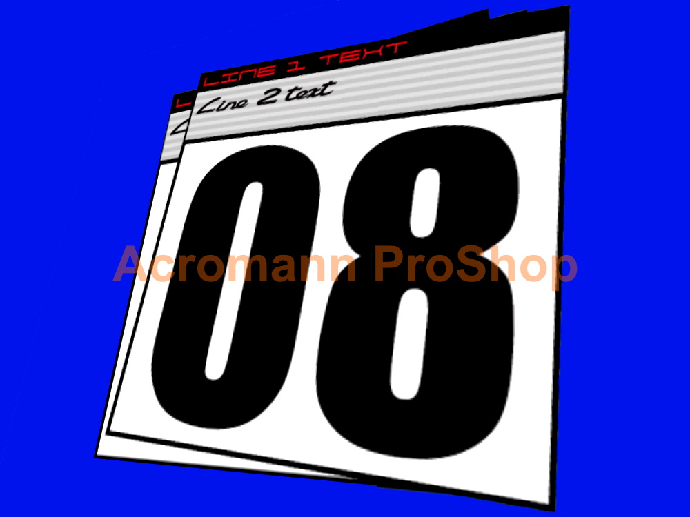 Porsche Carrera GT3 Cup Race Number Plate Decals Stickers(#1) x2