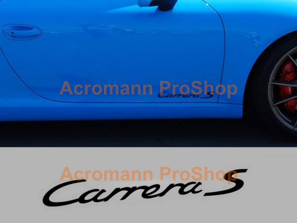 Porsche Carrera S Side Door 12inch Decal x 1 pair
