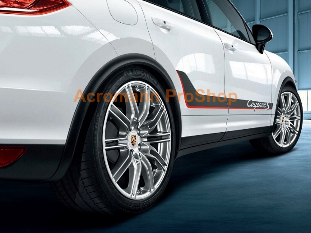Porsche Cayenne S 958 92A Side Stripes Door Decals (Style#4)