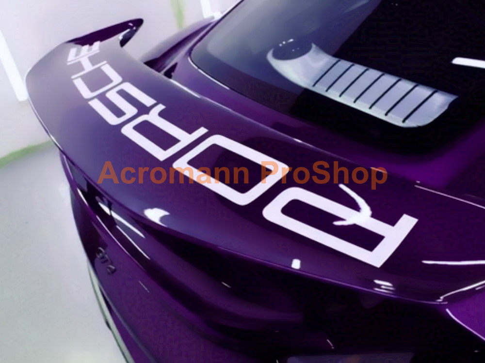 Porsche 718 Cayman GT4 Rear Wing Spoiler Decal Sticker - Curved