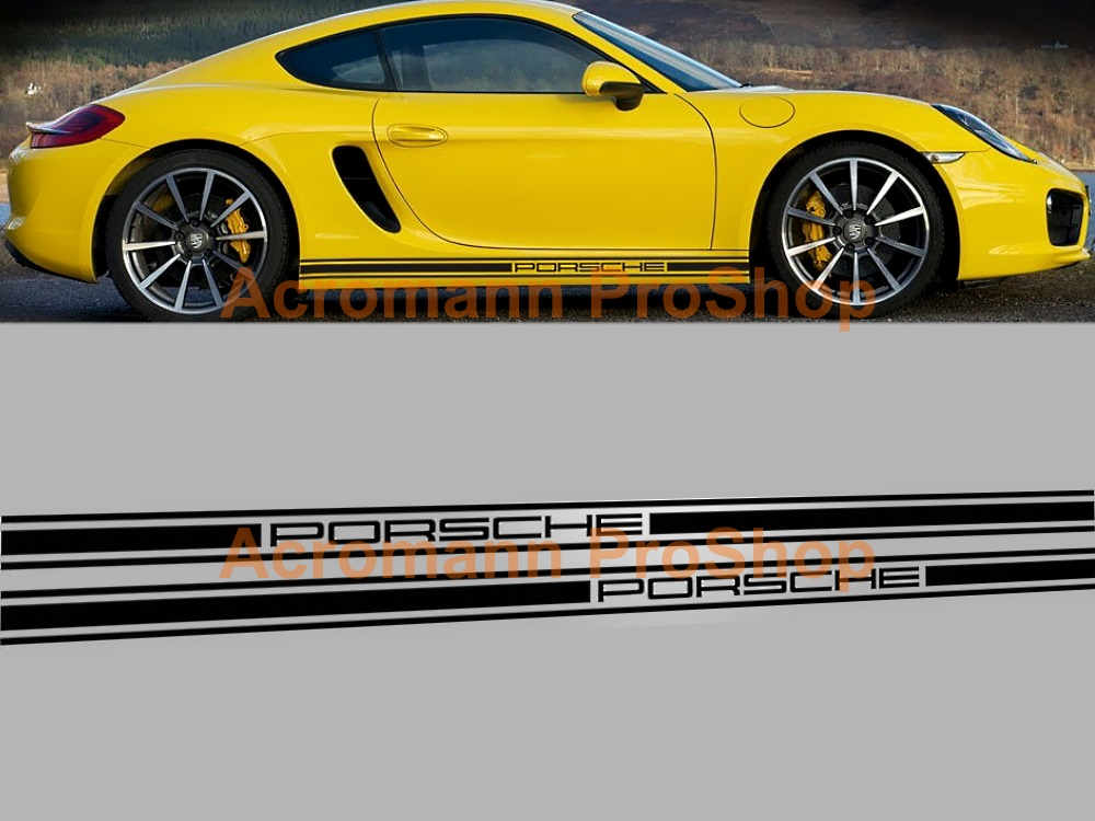 Porsche 981 Cayman Boxster Classic Side Stripes Door Decals(#12)