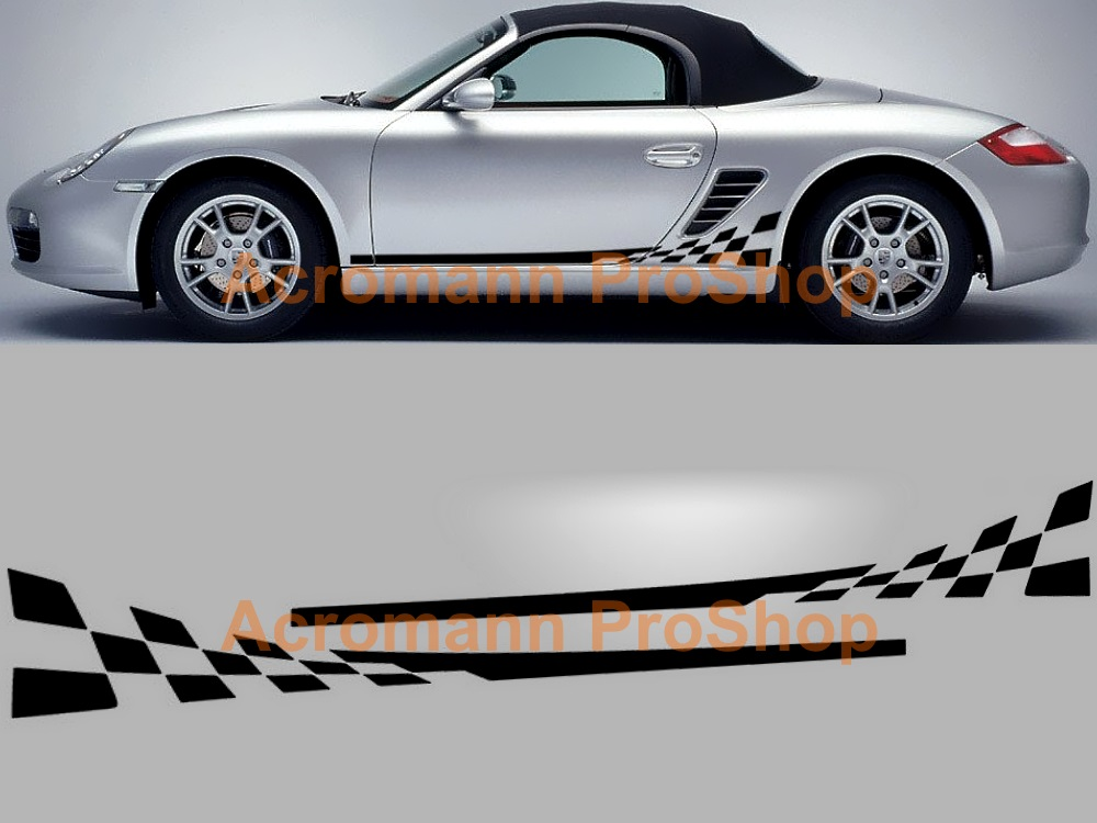 Porsche 987 Boxster Cayman Side Door Decal (Style#1) x 1 pair