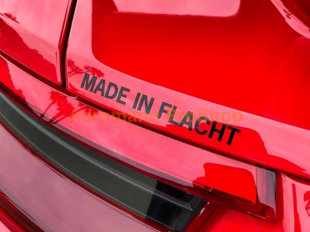 Porsche MADE IN FLACHT 6inch Decal (Style#1) x 2 pcs