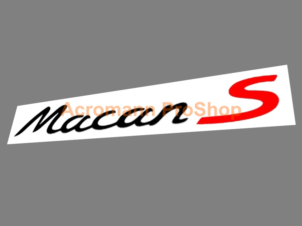 Porsche Macan S Lower Side Door 13inch Decal x 1 pair