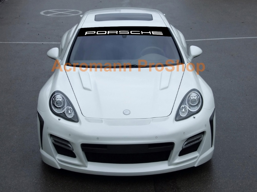 Porsche Windshield Decal (Style#1) Panamera / Cayenne / Macan