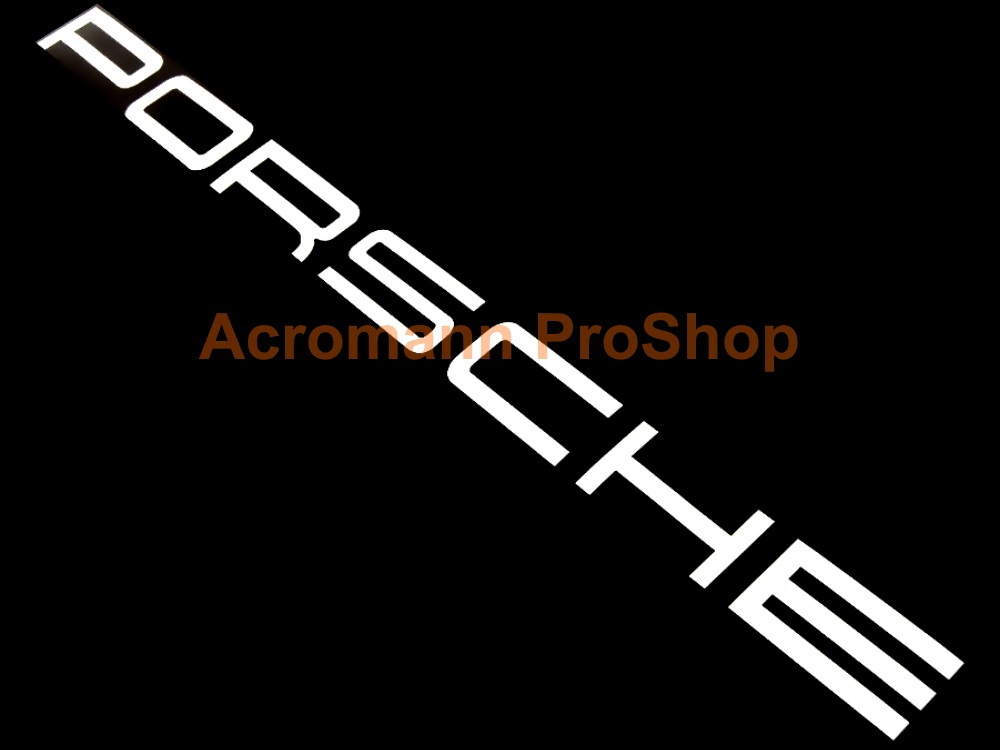 Porsche Windshield Decal (Style#2) - Straight
