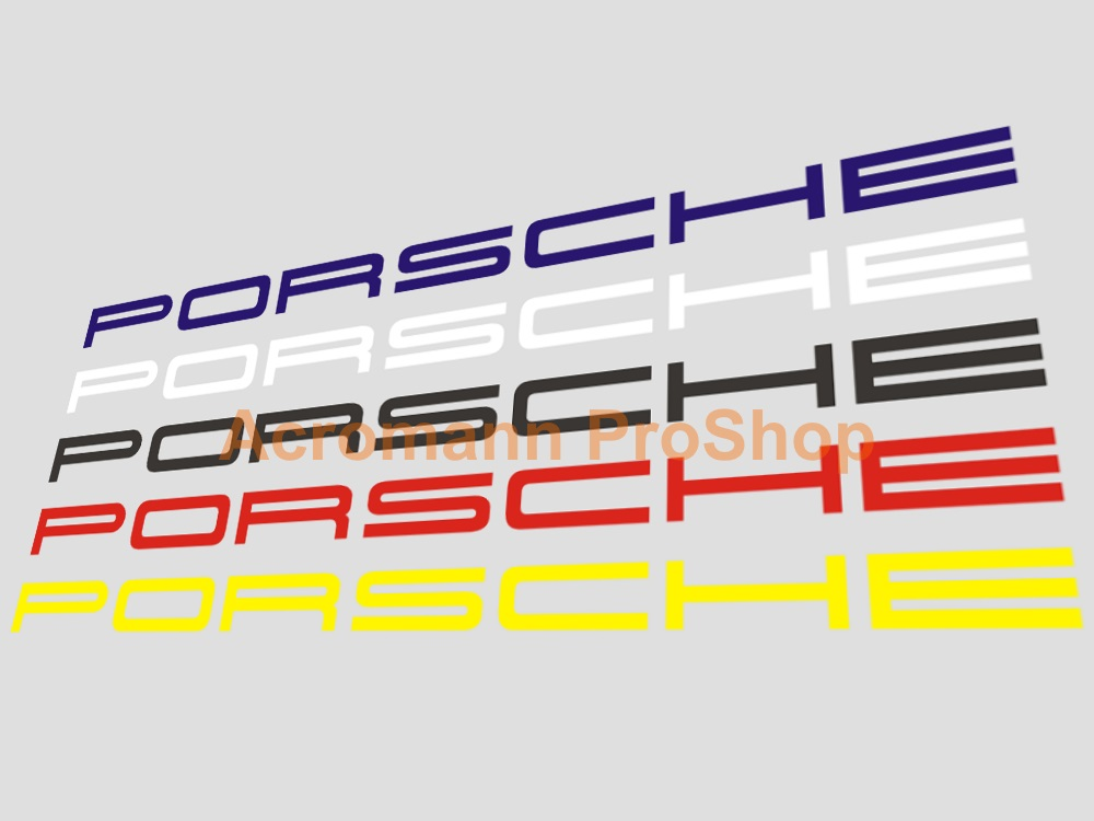 Porsche Windshield Decal (Style#7) - Straight