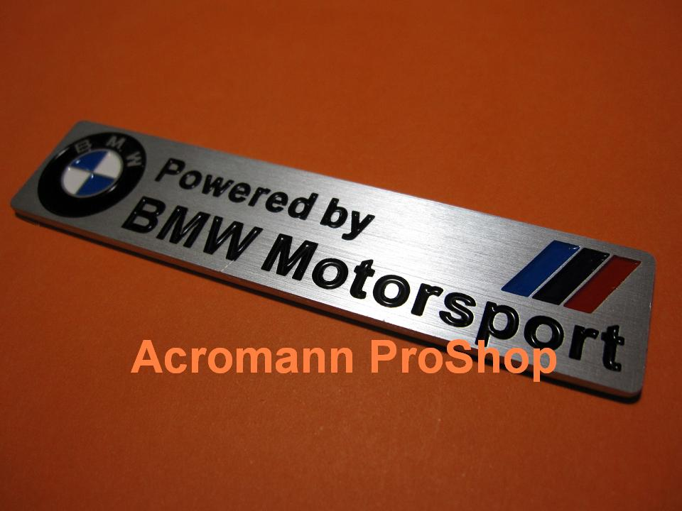 Powered by BMW Motorsport Emblem