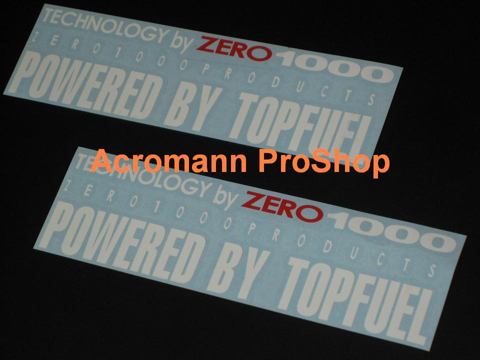 Powered by Top Fuel 8.5inch decal x 2 pcs