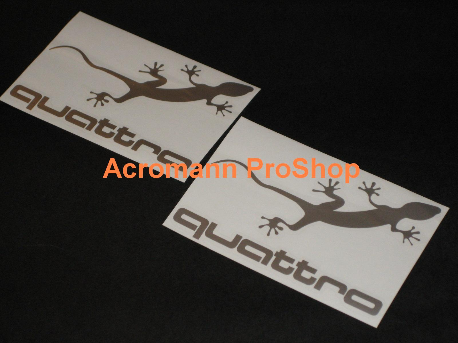 Aud i QUATTRO 6inch Decal (Style#2) x 2 pcs