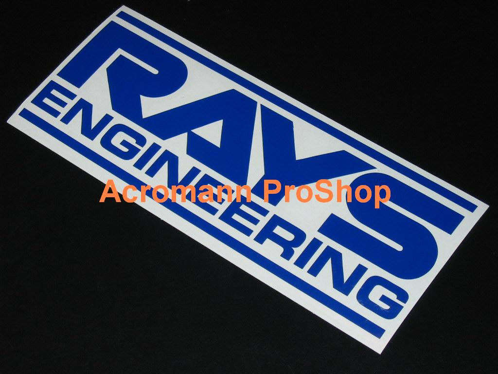 RAYS ENGINEERING (Volk Racing) 6inch Decal x 2 pcs