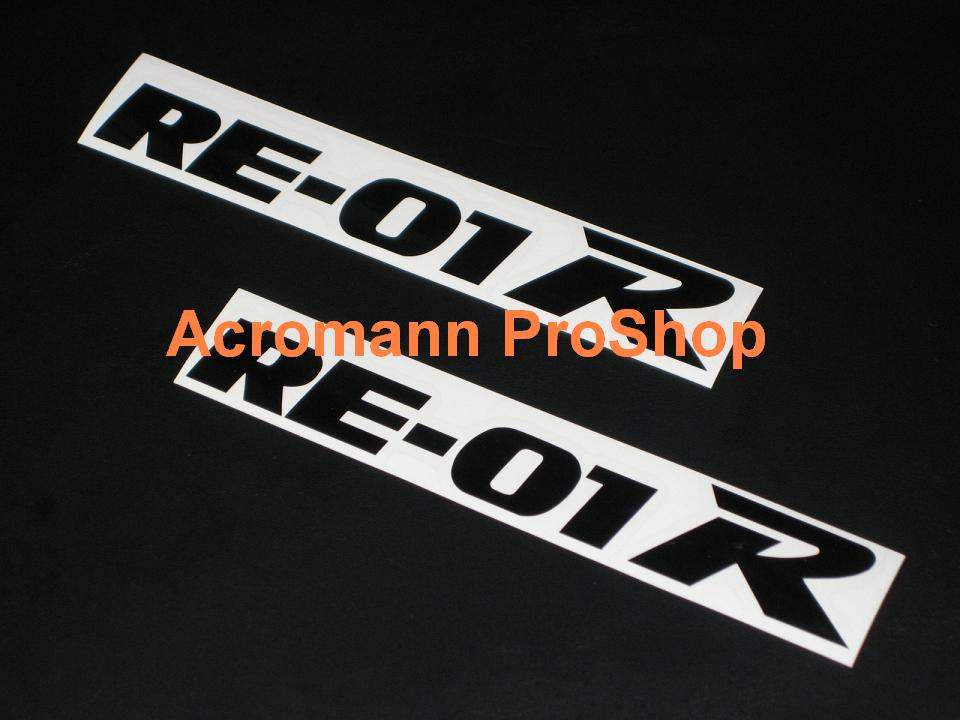 RE-01R (Bridgestone) 6inch Decal x 2 pcs
