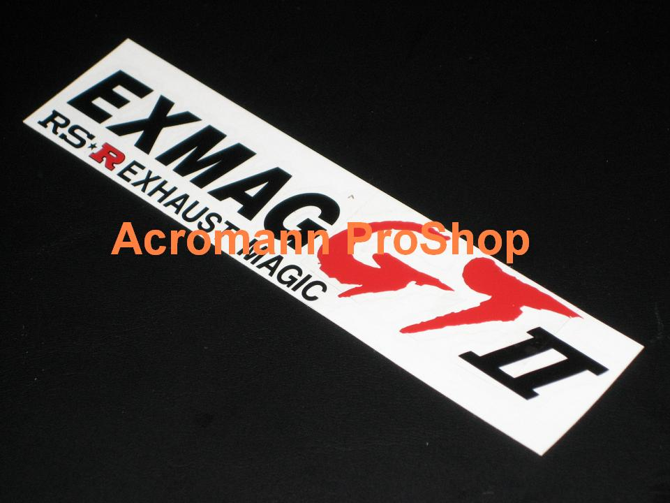 RSR Exhaust Magic 6inch Decal x 2 pcs