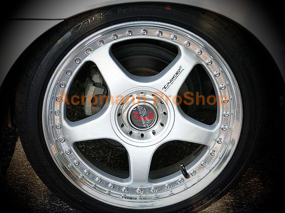 Racing Hart TYPE-C 2.1inch Wheels Rim Hub Caps Decals Sticker x4