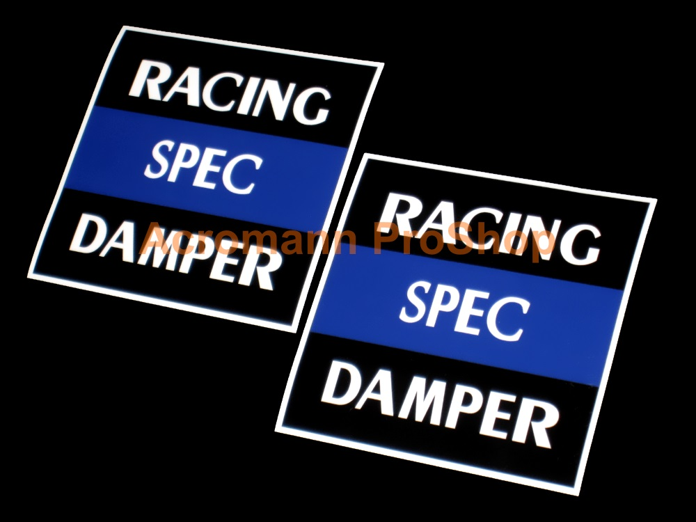 Buddy Club RACING SPEC DAMPER 4inch Decal x 2 pcs