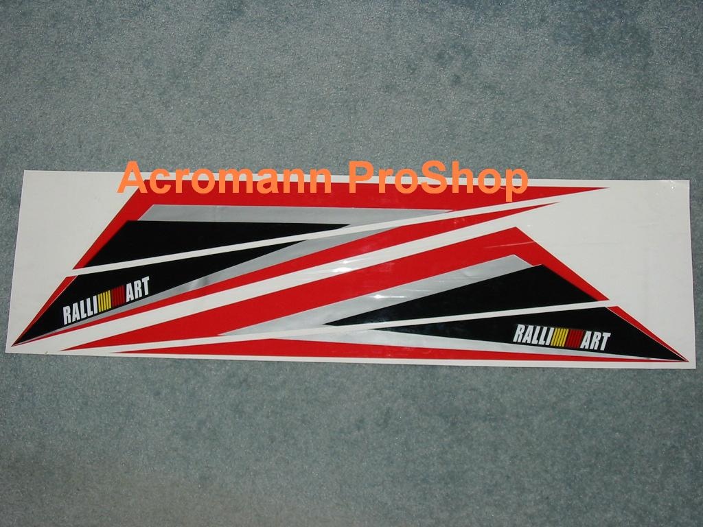 RALLIART Bonnet / Side Fender Decal (Style#1) x 1 pair