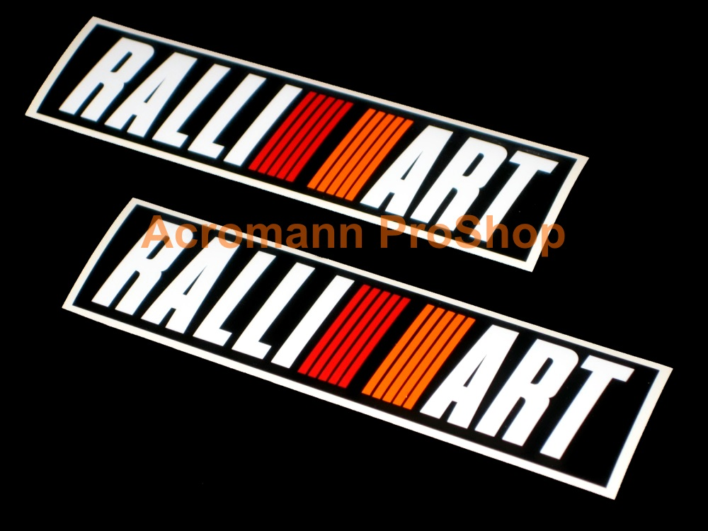 RALLIART 6inch Decal (Style#1) x 2 pcs