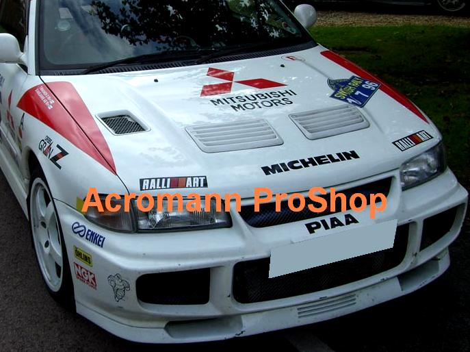 RALLIART Bonnet / Side Fender Decal (Style#3) x 1 pair