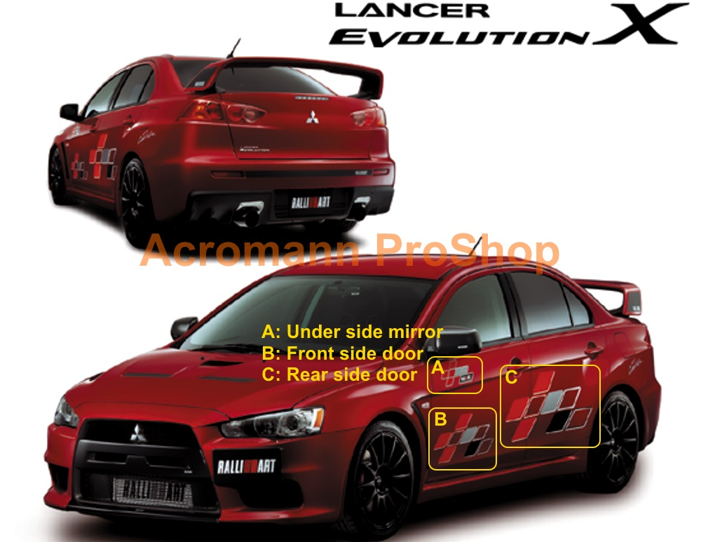 Evo X Car Decals