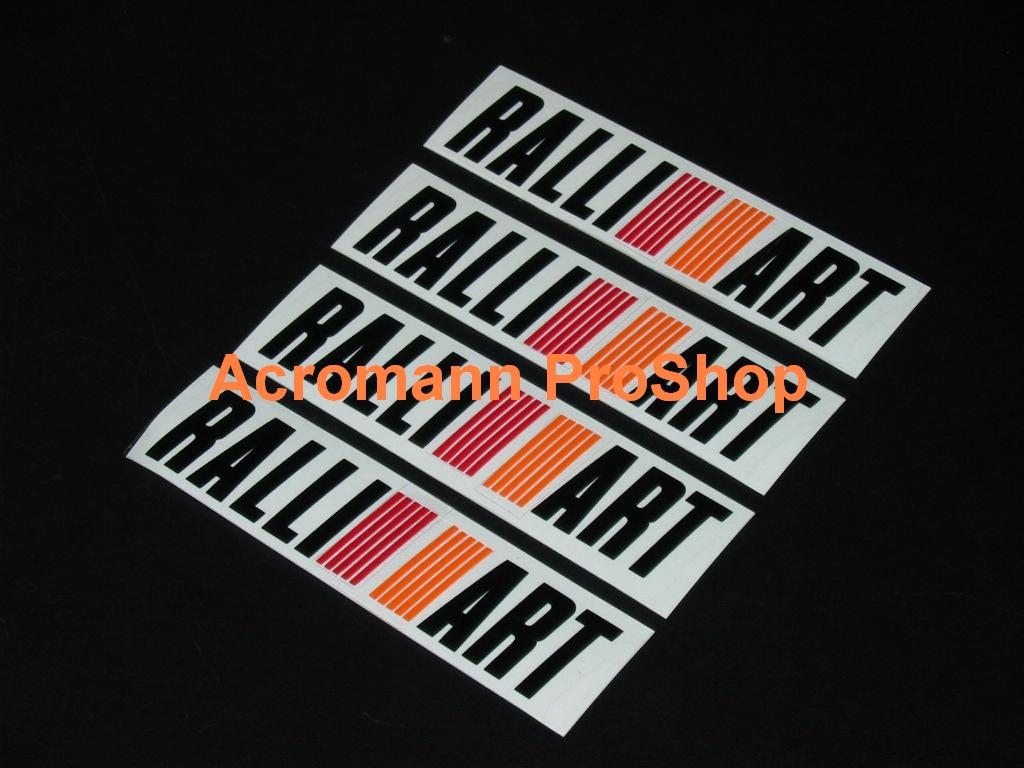 RALLIART 3inch Alloy Wheel Decal x 4 pcs