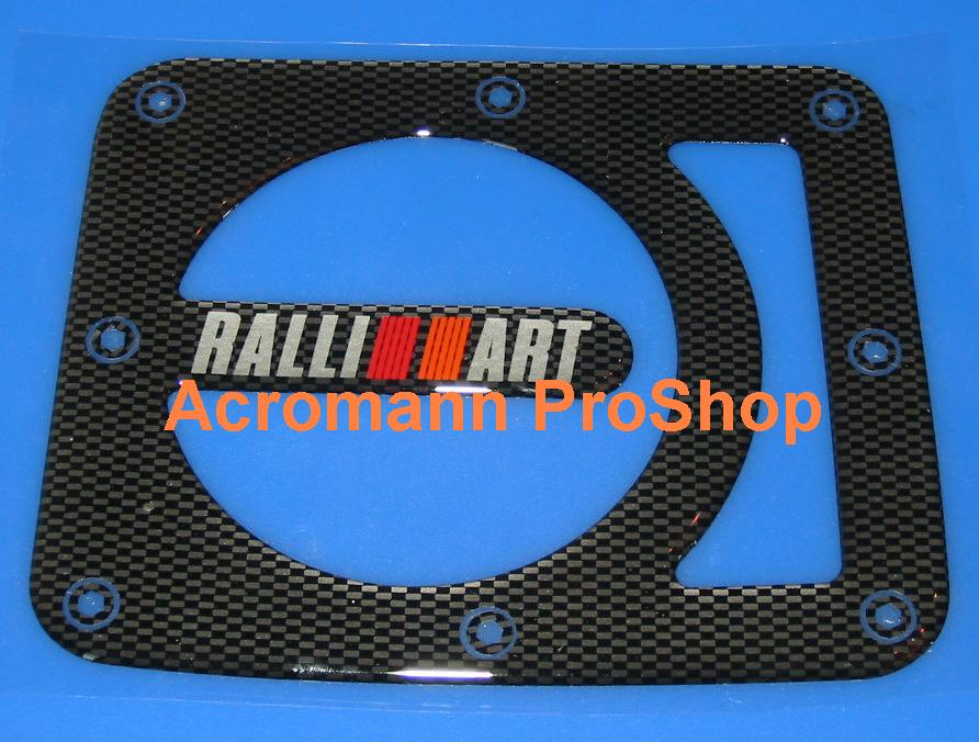 RALLIART Carbon Gas Door Emblem (Style#1)