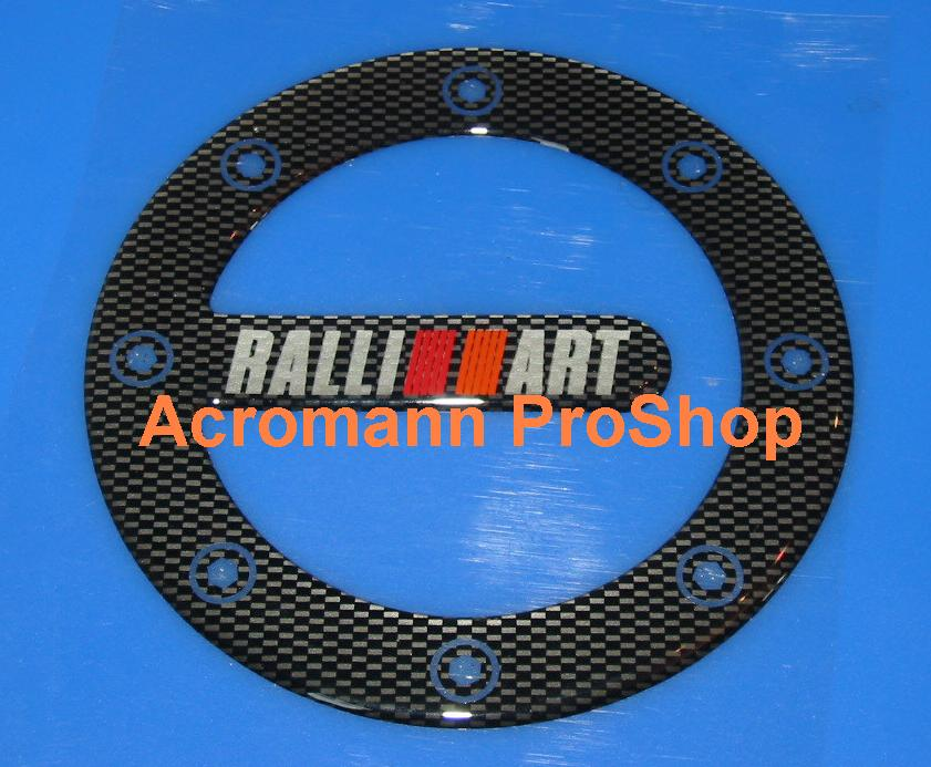 RALLIART Carbon Gas Door Emblem (Style#2)