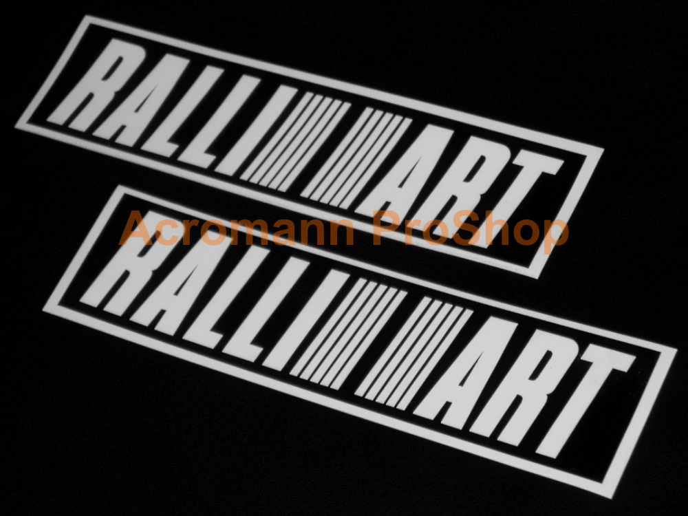 RALLIART 6inch Decal (Style#4) x 2 pcs