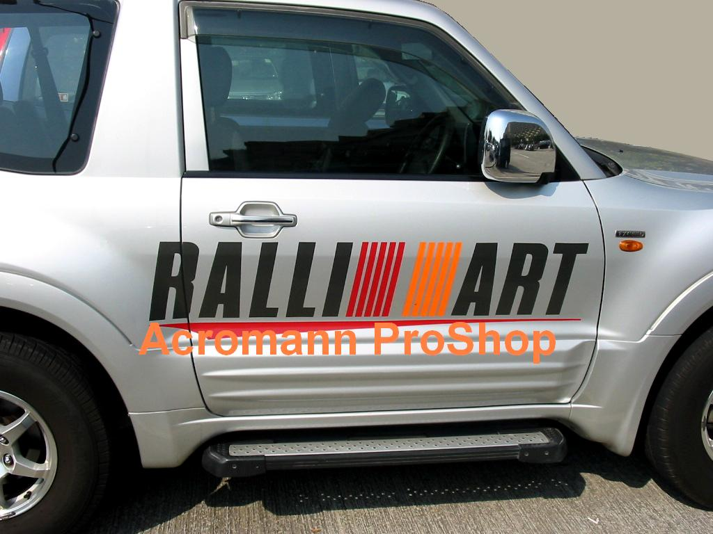 RALLIART Lettering Medium Side Door Decal (Style#3) x 1 pair