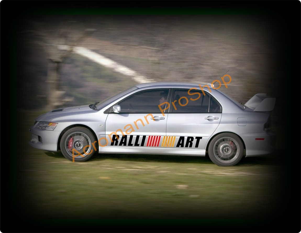 RALLIART Lettering Medium Side Door Decal (Style#4) x 1 pair