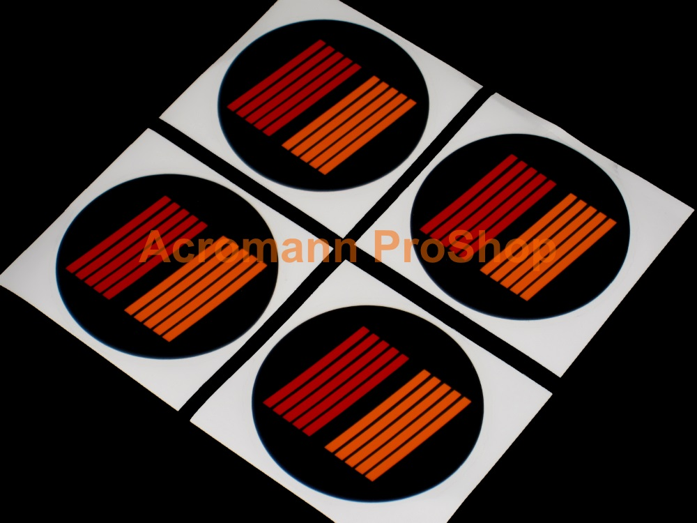 RALLIART Stripes Logo 2.2inch Wheel Cap Decal x 4 pcs
