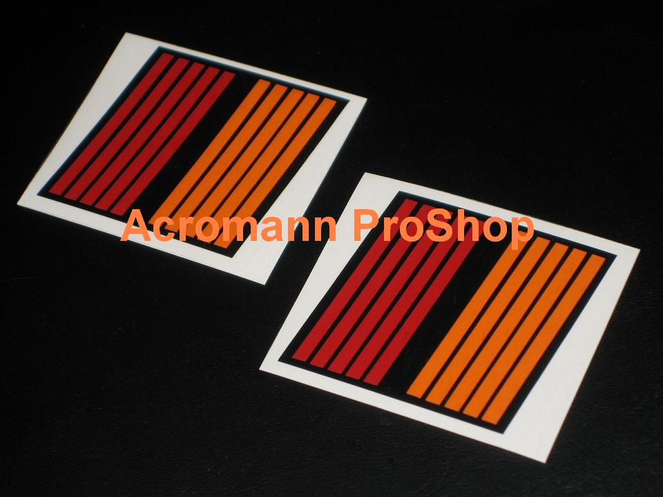 RALLIART Stripes Logo 2inch Decal x 2 pcs