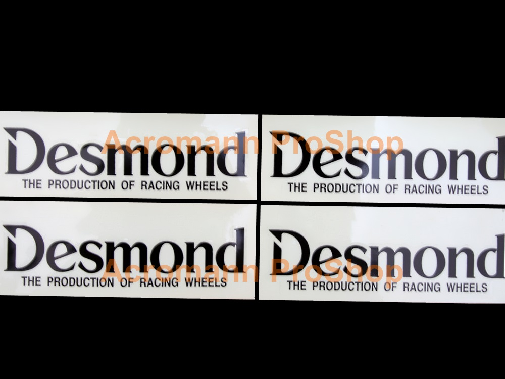 RegaMaster Desmond 4inch Alloy Wheel Decal x 4 pcs