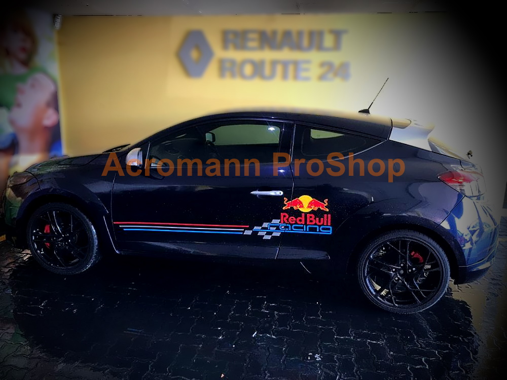 Renault Megane RS 265 Cup RB8 Racing F1 Sport Side Stripes Decal