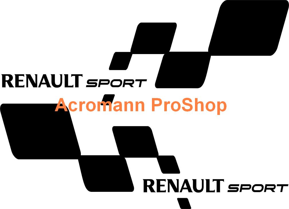 Renault Sport Side Door 21inch Decal x 1 pair