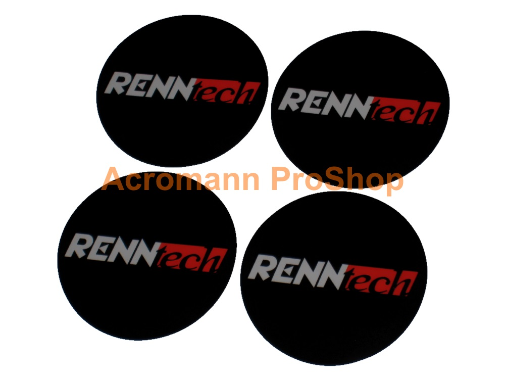 RENNtech 2.2inch Wheel Cap Decal x 4 pcs