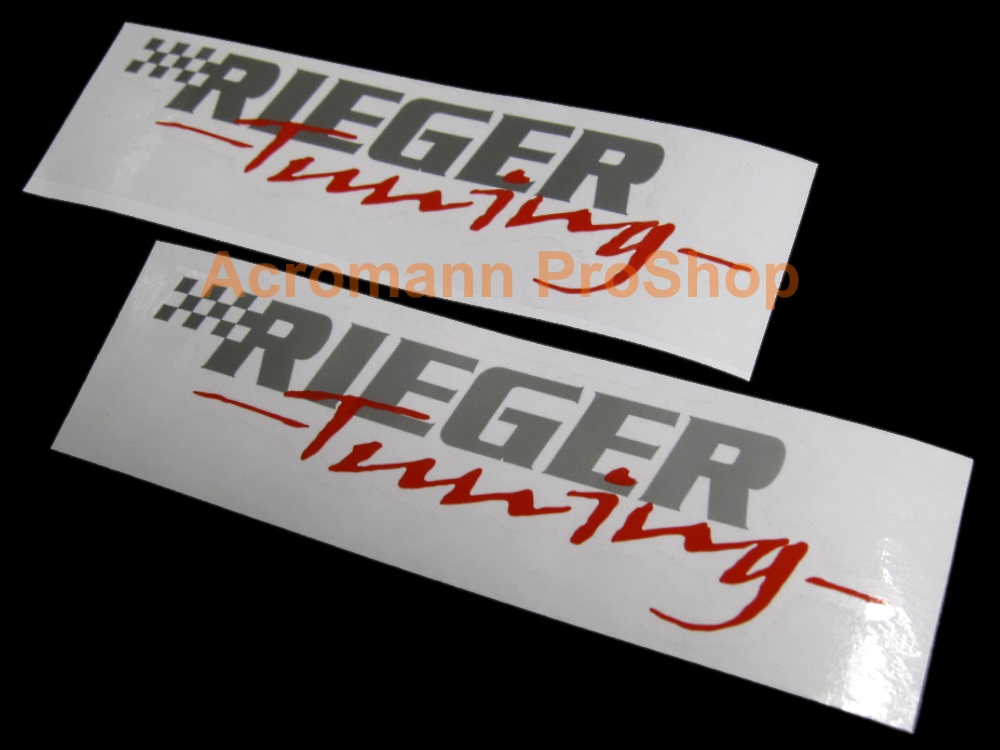 RIEGER Tuning 6inch Decal (Style#1) x 2 pcs