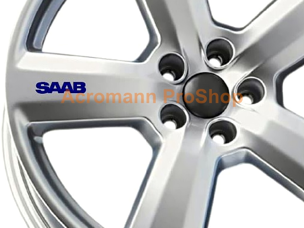 SAAB 3inch Alloy Wheel Decal x 4 pcs