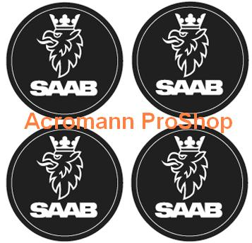 SAAB 2.2inch Wheel Cap Decal x 4 pcs