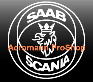 SAAB SCANIA 3inch Decal x 2 pcs
