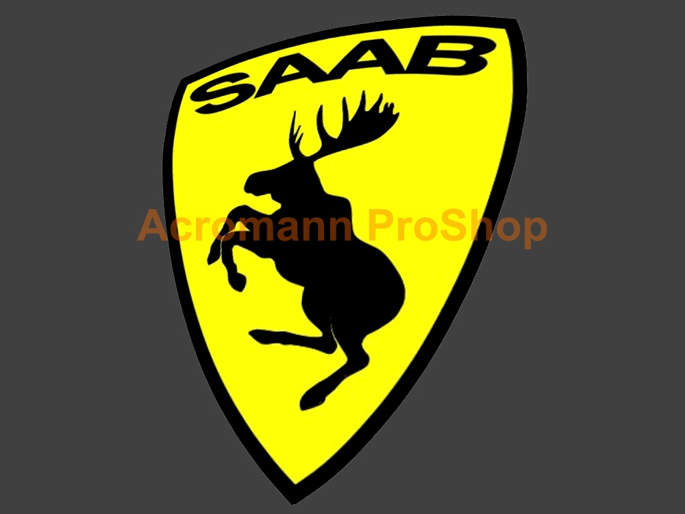 SAAB Prancing Moose 3.5inch Decal (Style#1) x 2 pcs
